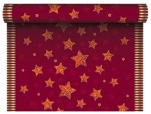 """PAPSTAR Weihnachts Tischdecke """"Sparkling Stars"""" rot (B)1,80 x (L)1,20 m"""