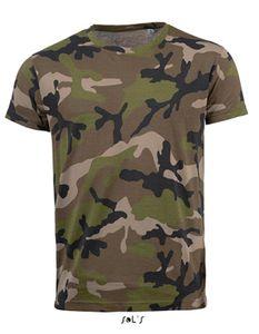 Mens Camo / Tarn Herren T-Shirt - Farbe: Camo - Größe: XXL