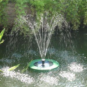 Solar Springbrunnen Schwimmend LED Akku 250l/h Brunnen