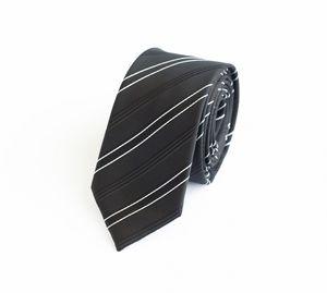 Schlips Krawatte Krawatten Binder 6cm schwarz weiß gestreift Fabio Farini