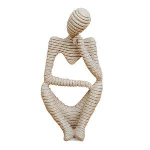 Sandstein Statue Hand Geschnitzt Abstrakt Kunstwerk Skulptur Figurine