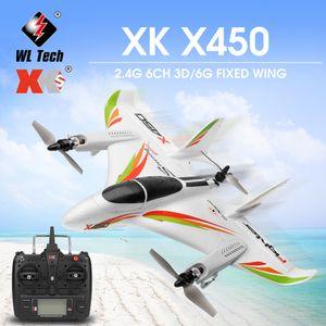 WLtoys XK X450 RC Flugzeug RC Segelflugzeug Starrfluegelflugzeug mit 3 Modellen 2.4G 6CH 3D / 6G RC Hubschrauber Vertikaler Start RTF