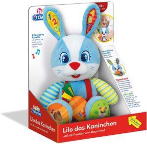 Clementoni 59107 - baby - Lilo das Kaninchen, interaktives Spielzeug