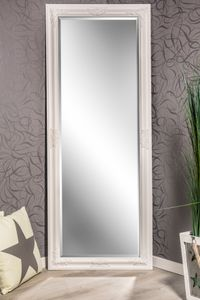 Wandspiegel weiß Barock Stil Katharina 150 x 60 cm