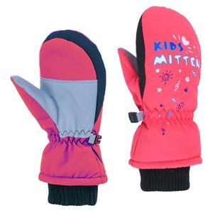 Kinder Junge Mädchen Winter Warme Handschuhe Ski Winddichte Thermo Schnee Outdoor Fäustlinge Farbe Pink XXS