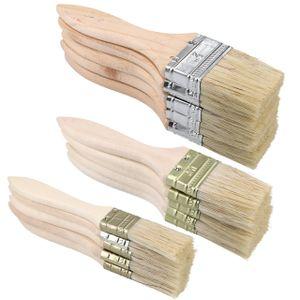 mumbi Malerpinsel Pinsel Set Flach Flachpinsel Lackierpinsel Lackpinsel Lack Lasur Pinselset