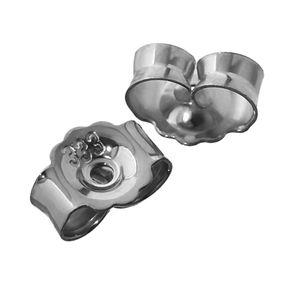 1Paar 333 Weißgold Gegenstecker Ohrstecker Ohrstopper Loch 0,8mm Ohrmutter 4821