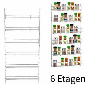 6 Schichten Gewürzregal Gewürzständer Wand Hängeregal Metall Kühlschrank Gewürzboard Halter Rack