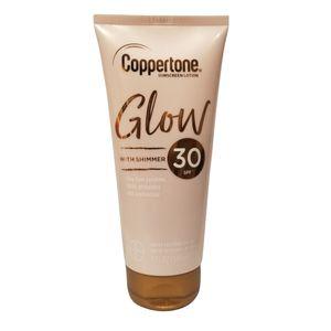 Coppertone GLOW Sonnenschutzlotion, SPF 30 mit breitem Spektrum, mit Schimmer, 148 ml