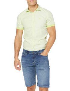Hattric Herren Bermuda Jogg Kurze Jeans Shorts Hose Sportlich High Stretch Washed grey 54