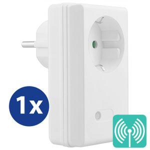 mumbi 1100 Watt Funksteckdose Erweiterung für mumbi 4-Kanal Funkschalter Set der Serien FS306 / FS300 / FS600 - Plug & Play 1 Funkschalter
