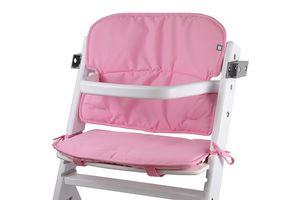 Universal Hochstuhl-Sitzkissen optimal Set mit Memory-Schaum Sitzverkleinerer-Auflage für Babystühle rutschfest Rosa