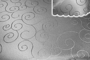 Tischdecke silber 160x260 cm eckig damast Ornamente bügelfrei fleckenabweisend