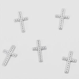 Oblique Unique 25 Deko Kreuze Streu Tischdeko Konfirmation Taufe Kommunion - silber