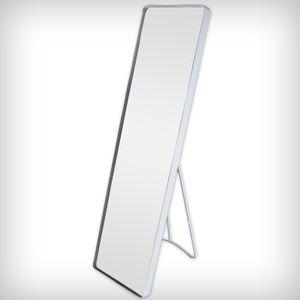 DRULINE Standspiegel Wandspiegel Garderobenspiegel Spiegel Ganzkörperspiegel Schrankspiegel Ankleidespiegel Dekoration Hängend | 115 cm x 30,5 cm x 4 cm | Weiß