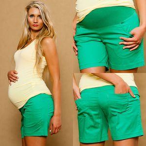 kurze Umstandshose Schwangerschaftshose Umstandsmode Sommer Größe 42/XL in Grün