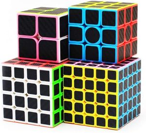 Zauberwürfel Set 5x5 Speed Cube,4x4 Speed Cube,3x3 Speed Cube,2x2 Speed Cube Set Zauberwürfel 5 Pack Carbon Fiber Cube