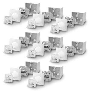 8x ARLI Cat6a Netzwerkdose 2 Port ( Auf + Unterputz )
