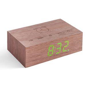 Gingko Flip Click Clock Uhr - in verschiedenen Farben, Farbe:Walnuss