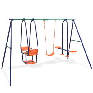 Kinderschaukel 5 Sitzen Gartenschaukel Schaukelgestell Schaukelgerüst