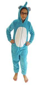 Mädchen Jumpsuit Overall Onesie Schlafanzug in niedlichen Tier Motiven - 291 467 97 606, Farbe:Elefant, Größe:140
