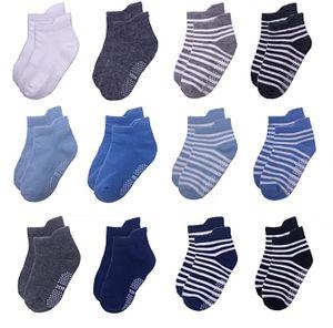12 Paar Baby Socken Antirutsch Anti-Rutsch Kinder Kleinkinder Babysocken für Baby Jungen und Mädchen,1-3 Jahre