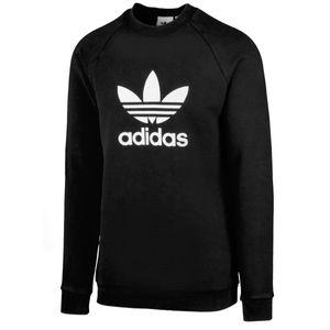 adidas Originals Trefoil Warm-Up Sweatshirt Herren Schwarz/Weiß (CW1235) Größe: L