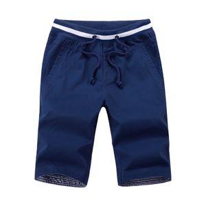 Herren Sommer Shorts Slim-Fit Casual Klassischen Strand Training Jogging Shorts Atmungsaktiv Größe Dunkelblau M.