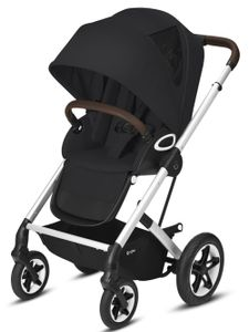 CYBEX Talos S Lux Outdoor-Kinderwagen, Cybex Kinderwagen Gestell:Silver, Design::Deep Black