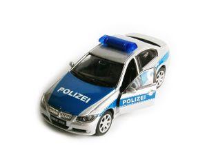 BMW 330i Polizei Auto Modell Metall Modellauto Spielzeugauto Geschenk Welly 11(Polizei)