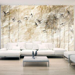 Vlies Tapete ! Top ! Fototapete ! Wandbilder XXL ! 400x280 cm  ABSTRAKT BÄUME VOGEL b-C-0001-a-b