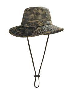 Coolibar - UV-Boonie-Hut für Kinder - Outback - Waldgrünes Tarnmuster