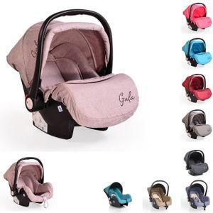 Cangaroo Babyschale Gala, Gruppe 0+ (0 - 13 kg), Sitzpolster, Fußabdeckung beige/braun