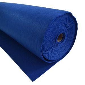 Bastelfilz 1m Meterware Filz 90cm x 1,5mm Dekofilz Taschenfilz Filzstoff 39 Farben, Farbe:blau