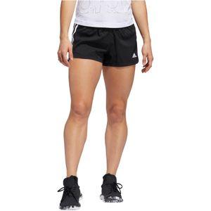 adidas Performance Damen Lauf-Fitness-Short PACER 3 STRIPE WOVEN SHORT schwarz, Größe:M
