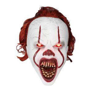 Halloween Pennywise Maske LED leuchtende Kopfbedeckung beängstigend Cosplay