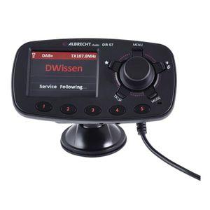 Albrecht DR 57 DAB+ Autoradio-Adapter, Farbe:Schwarz