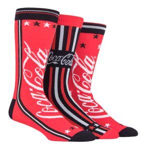 Coca Cola - 3er Pack Herren Lustig Baumwolle Socken für Geschenk | Socken für Herren