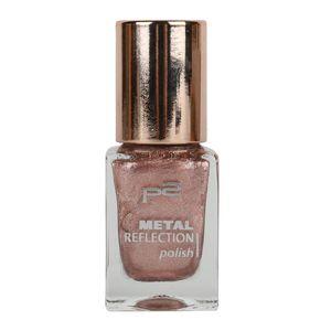 P2 Nägel Nagellack Nagellack Metal Reflection Polish 833907, Farbe: 110 nude salsa, 10 ml