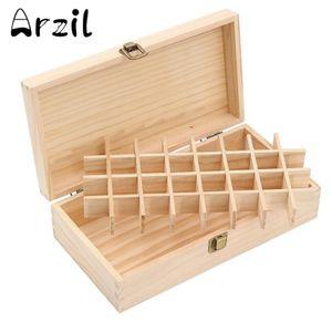 32 Slots Aromas Holz Aufbewahrungsbox Aufbewahrungskoffer für ätherische Öle