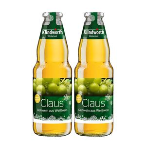 Klindworth Claus 2er Set Glühwein aus Weißwein - 2x Winterlust Glühwein 1L (9,8% Vol) inkl. Pfand MEHRWEG- [Enthält Sulfite]