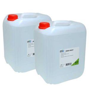 Medicalcorner24 Destilliertes Wasser AQUA DEST, unsteril und mikrofiltriert, 2x 10 Liter