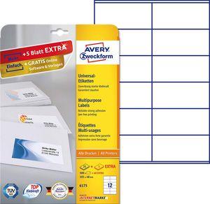 AVERY Zweckform Universal Etiketten 105 x 48 mm weiß 360 Etiketten