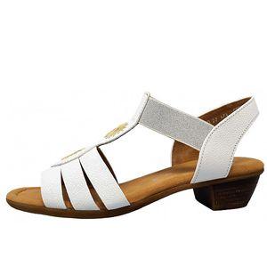 Gabor Comfort Sandale Weiß Größe 7, Farbe: 50 weiß