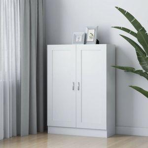 anlund Bücherschrank Weiß 82,5x30,5x115 cm Spanplatte