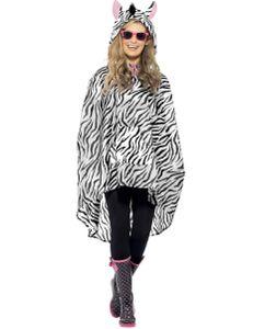 Zebra Party Poncho, Größe:STD