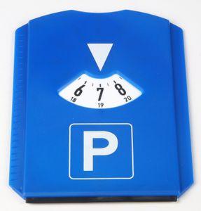 1 x Parkscheibe mit Eiskratzer, Blau, 11,8x15,5 cm, aus Kunststoff