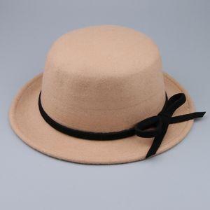 1 Stück Bowknot Fedora Hut Farbe Leicht gebräunt
