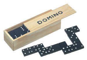 28 Dominosteine in Holzbox Spielsteine 16x4x3cm Dominospiel Domino Spiel BWI