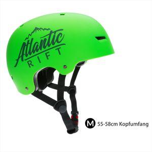 Skatehelm Kinderhelm Jugendhelm Fahrradhelm Helm Mountainbike BMX Atlantic Rift, Model:Skaterhelm neon grün Größe M